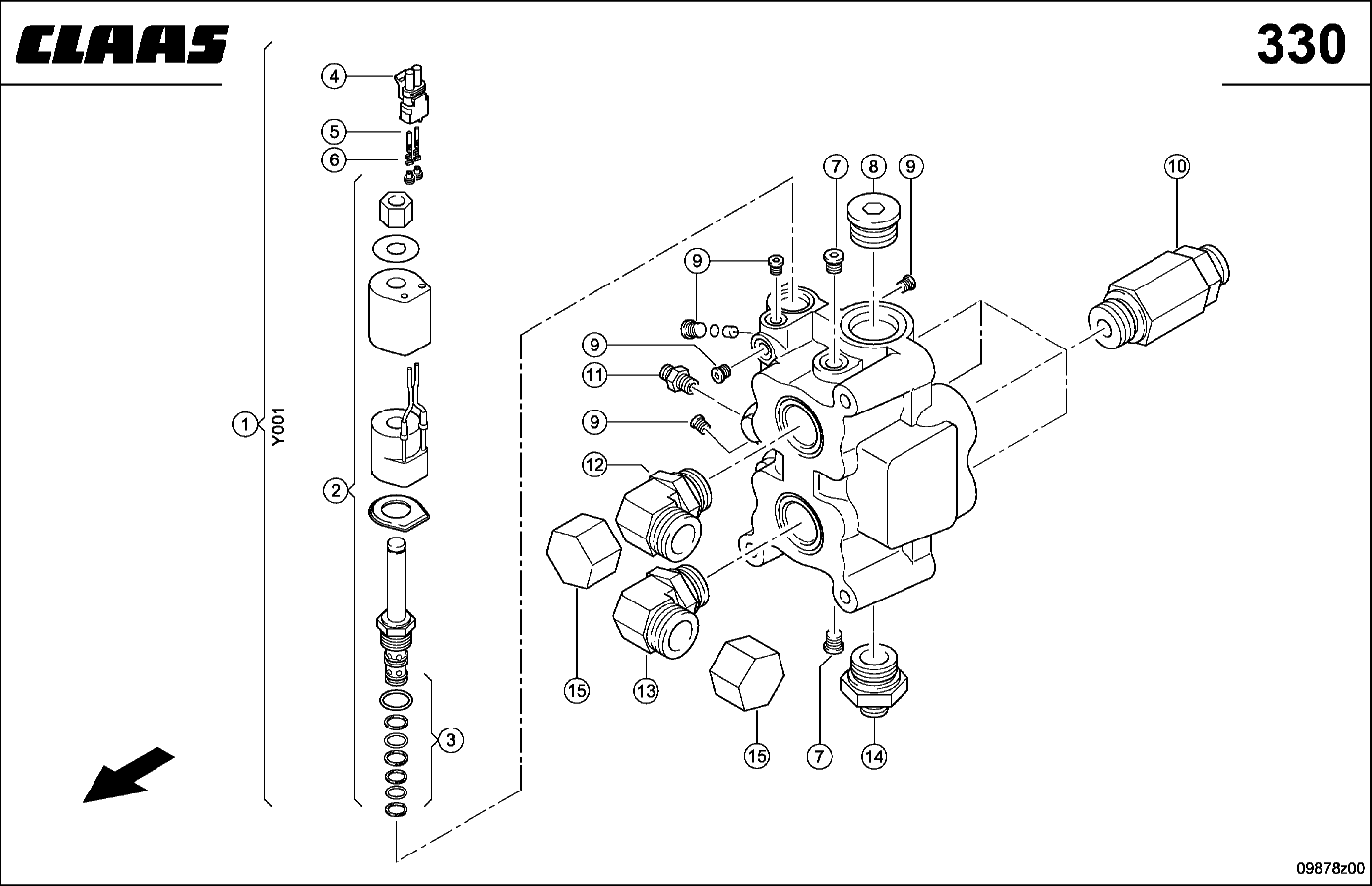 VALVE; REAR WHEEL DRIVE AXLE